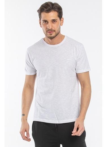 Slazenger Slazenger SAND Erkek T-Shirt  Beyaz